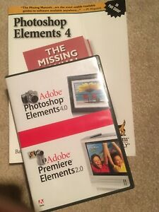 Adobe Photoshop Elements 4.0 & Premier Elements  2.0 And Manual