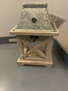lovely small wooden firwood lantern,