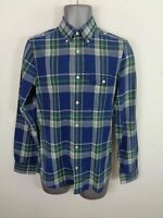 MENS GANT BLUE/GREEN/WHITE CHECKED BUTTON UP LONG SLEEVE CASUAL SHIRT UK S SMALL