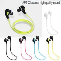 Bluetooth Wireless Stereo Headset Handfree Nero Earphone Cuffie Sport Universal