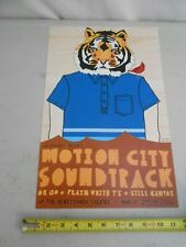 "Rare March 2 2006 Motion City Soundtrack "" Cole Gerst "" Concert Poster White T'S"