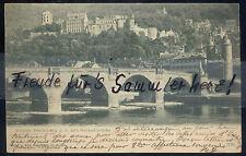 12 N Sehr Alte AK Ansichtskarte Heidelberg Schloß alte Neckarbrücke 1903  s/w