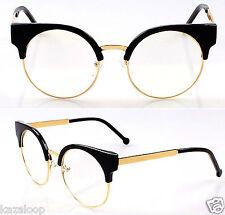 Qualität Damen Rund Oval Linse Cat Eye Durchsichtige Linse Mode Brille Brille