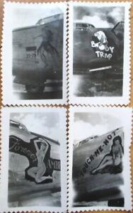 Pinup/Pin Up Aviation 1940s Collection - 8 ORIGINAL Photos of Women on Airplanes