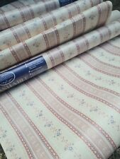 Vtg 50s 60s 8 Rolls  Pretty Shabby Floral Cottage Chintz Wallpaper Coloroll