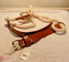 BELT - BRAND NEW WHITE ROPE & LEATHER XXL BELT / TAGS - TARGET