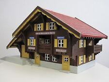 RhB Station Lüen-Castiel Teakholz FERTIGMODELL