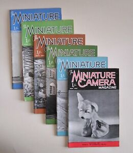 MINIATURE CAMERA MAGAZINE - 1947 YEAR BUNDLE OF 6 - GOOD CONDITION