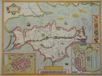 OLD COPY OF ANTIQUE MAP 1700'S ISLE OF WIGHT