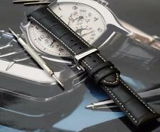 LEATHER BAND STRAP+DEPLOY BUCKLE + SWISS BARS+TOOL TO FIT IWC PILOT 21MM