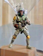 Hasbro 2005 Star Wars Die Cast BOBA FETT Figurine Titanium Series Display Case