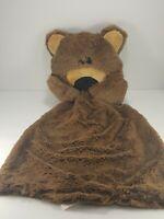 Neiman Marcus Teddy Bear Lovey Brown Velour Baby Security Blanket Plush Tags