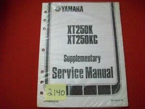 SEALED FACTORY ISSUED YAMAHA M/C XT250K & XT250KC SUPPLEMENTARY SERVICE MANUAL