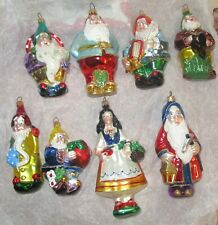 Polonaise Kurt Adler Snow White & 7 Dwarfs Glass Christmas Ornament Set Mint