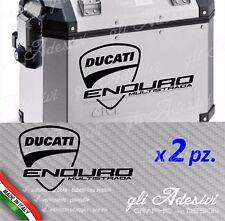 2 Adesivi per valigie GIVI Trekker Ducati Multistrada ENDURO alluminio logo big