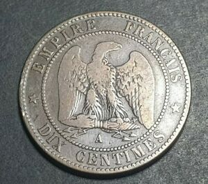 France 10 centimes coin 1862 A