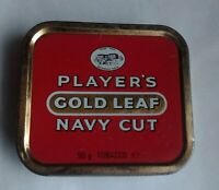 Vintage Collectable Player's Gold Leaf Navy Cut Tobacco Tin 50g Made In England