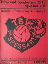 Programm 1992/93 TSV Spessart - SG Stupferich
