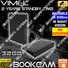 Wireless Security Camera 32GB Book Cam Office Home Room Nanny DVR No SPY Hidden
