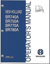 New Holland BR740A BR750A BR770A BR780A Round Baler Operator Manual 87526226