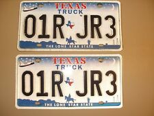"""Year """"2000"""" Texas Truck License Plates - Matched Set"""