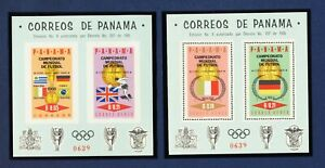 PANAMA - 468Ef, 468Eg - VF MNH S/S perf & imperf  - World Cup Soccer - 1966