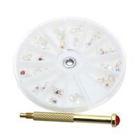 Nail Art Charm Piercing Hand Drill Hole Pierce Tool + 24 Pendants Dangle Hot