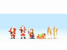 NOCH 15920 Weihnachtsfiguren Weihnachtsmann Engel Schlitten 5 Figuren H0 Neu