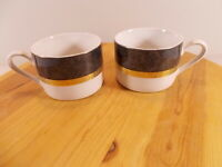 Lot Of 2 RETRONEU Imperial Collection GRAY 490 Fine China Cups
