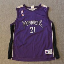 VTG Champion WNBA Ticha Penicheiro Signed Sacramento Monarchs #21 Jersey Size L