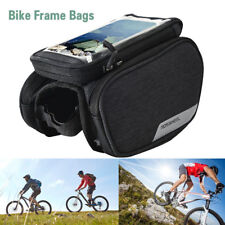 Bicycle Frame Cycling Pannier Front Tube Bag with Phone Holder Bag Waterproof US