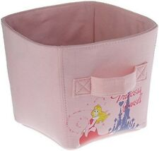 Ordinett Pink Disney Princess Medium-Sized Canvas Storage Basket Bin Kids Girls