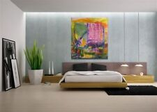 Modern Wall Art, Abstract Acrylic Painting, by artist on Canvas, BIG PINK buyart