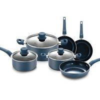 URBN-CHEF Diamond Ceramic Teal Blue Induction Cooking Saucepans Frying Pans Pots