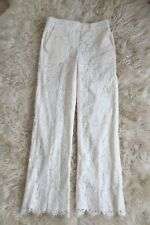 JCrew $350 Collection Floral Lace Pants Wedding Bride Formal Ivory 4 C7611 NEW