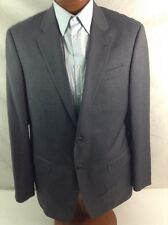 New Armani Collezioni 'G LINE' 2-BT Mid-Gray Striped Wool Suit 44L/W38 EU54R