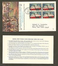 #1325 5c Erie Canal - Sesquicentennial Committee FDCPB4 + Data Card