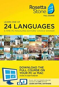 Rosetta Stone Full Course Learn 1 of 24 Languages Plus 24 Month Online Access