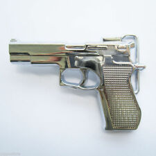Fashion Belt Buckle Chrome Hand Gun Metal