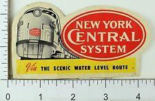 1930's-40's New York Central System Luggage Label Vintage Original E3