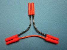HXT 4MM IN SERIES BATTERY HARNESS ADAPTER LIPO CONNECTOR PLUG 14AWG REDCAT RC