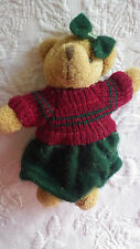 Little Bear with Sweater & Skirt Christmas Holiday Decoration 5""