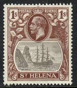 ST HELENA 1922-37 SG106 1/- GREY & BROWN MNH