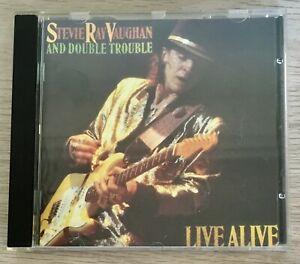 STEVIE RAY VAUGHAN & DOUBLE TROUBLE - LIVE ALIVE CD ALBUM 1986 (BLUES/ROCK VG+)