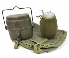 MILITARY SET CANTEEN + MESS KIT + CANVAS BAG POLISH ARMY TRANGIA CAMPING SET NEW