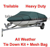 17' 18' 19' V-Hull Fish - Ski Trailerable Boat Cover