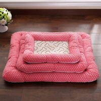 Large Pet Dog Cat Bed Puppy Cushion House Warm Fur Fleece Washable Sleeping Bed