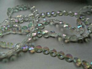 10M/33FT Garland Diamond iridescent Strand Acrylic Crystal Bead CHRISTMAS