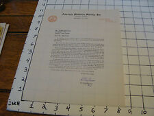 vintage letter: American Philatelic Society, Sept 23, 1946 signed H. CLAY MUSSER