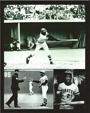 ROBERTO CLEMENTE 8X10 COLLAGE 3000TH HIT 9/30/72 THREE RIVERS STADIUM PITTSBURGH